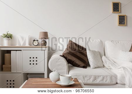 White Couch And Commode