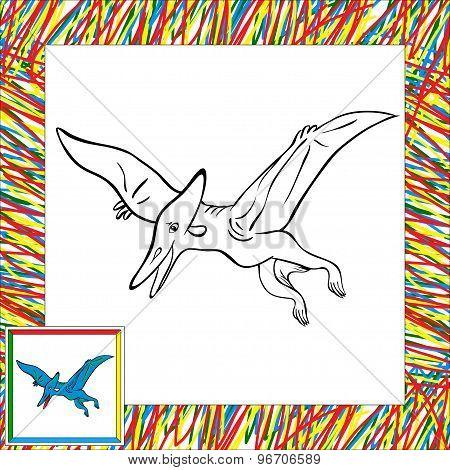 Funny Cartoon Pterodactyl