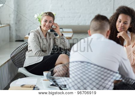 Business Meeting In Coffee House