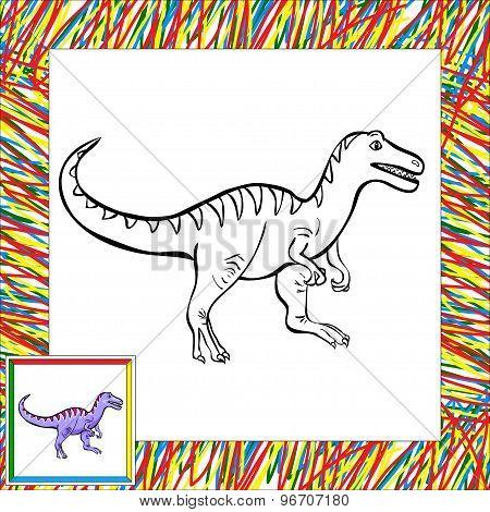 Funny Cartoon Tyrannosaur