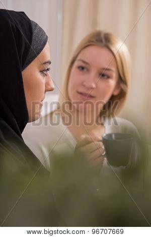 Thoughtful Muslim Girl