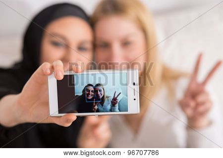 Selfie With Friend