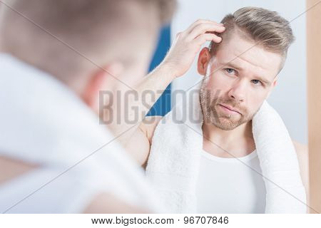 Man Improving Hair