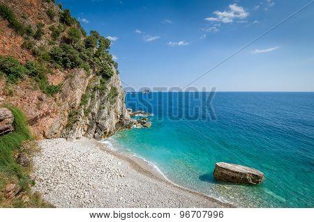 Montenegro wild beach.