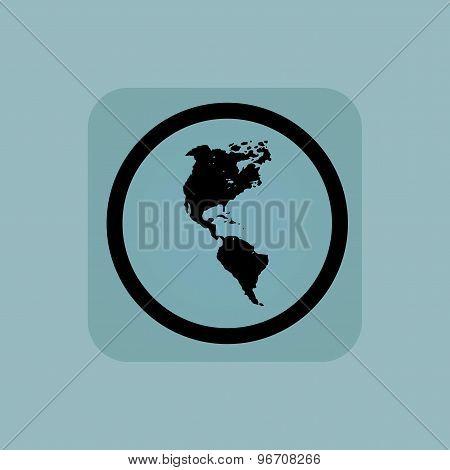 Pale blue America sign