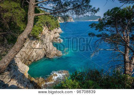 Adriatic Montenegro shore