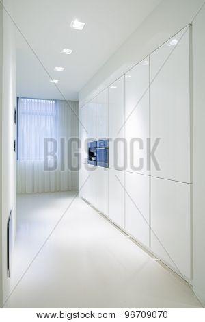 White Cupboards In Luxury Kitchen