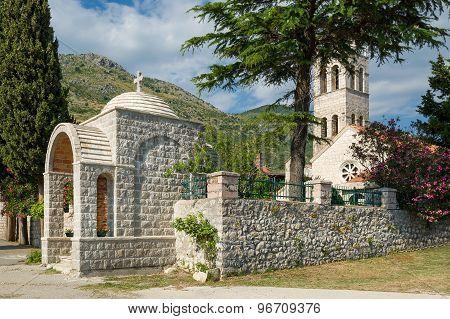 Rezevici medieval monastery entrance