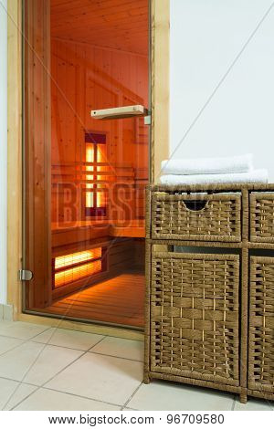 Door To Modern Sauna