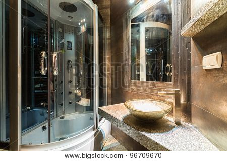 Designer Bathroom In Contemporary House