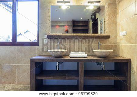 Washbasins In Modern Bathroom