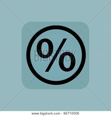 Pale blue percent sign