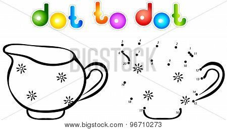 Milk Jug Dot To Dot Coloring Book