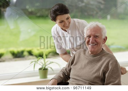 Man Staying In Nursing Home