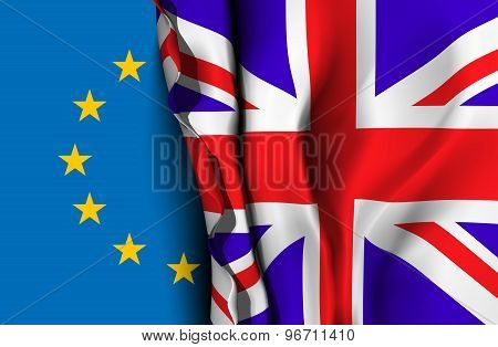 EU and UK flag