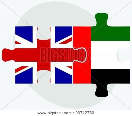 United Kingdom And United Arab Emirates Flags