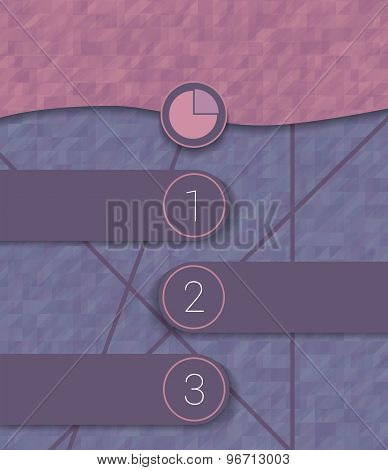 Vector Timeline Concept For Infographics Template. Three Steps For Business.