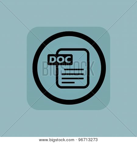 Pale blue DOC file sign