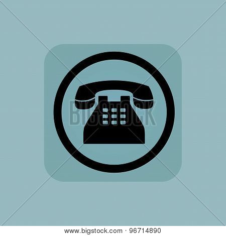 Pale blue phone sign