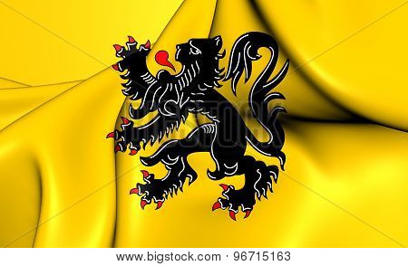 Flag Of Flanders, Belgium.