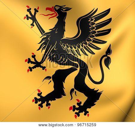 Flag Of Sodermanland County, Sweden.