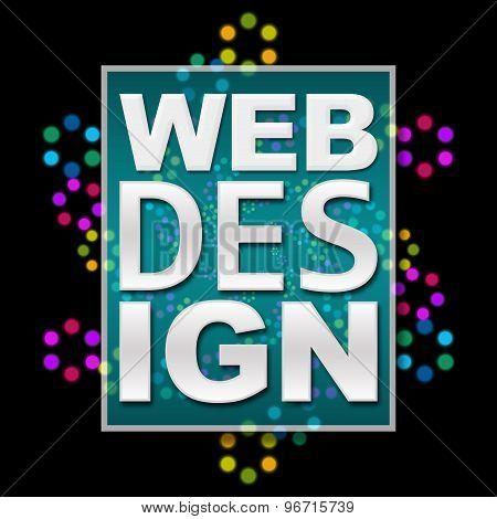 Web Design Black Background Colorful Neon
