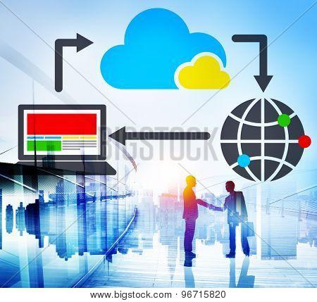 Cloud Computing Data Information Network Concept