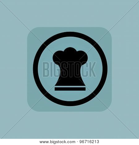Pale blue chef hat sign