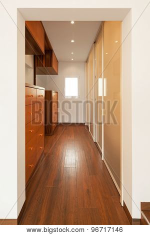 Modern house interior, corridor , nobody inside