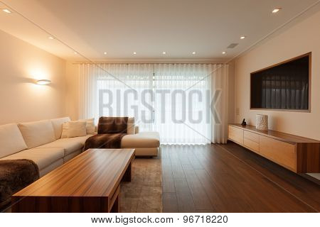 Interior architecture, modern living room