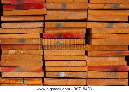 Wood Pile Kept In Stock For Sale.