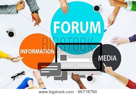 Forum Global Communication Connection Topic Concept