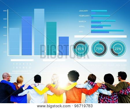 Diversity People Strategy Marketing Support Team Concept