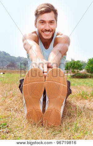 Nice guy doing exercises