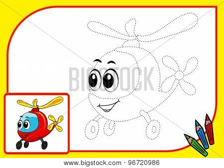 ?oloring Book (dot Helicopter)