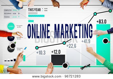 Online Marketing Advertisement Target Promotion Concept