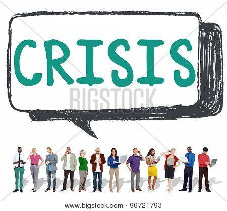 Economics Financial Crisis Risk Strategy Concept
