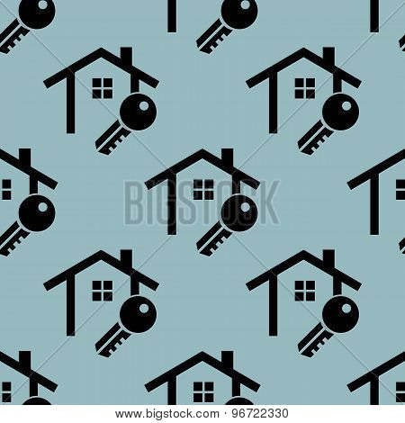 Pale blue house key pattern