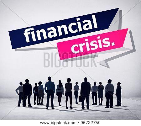 Financial Crisis Problem Money Concept