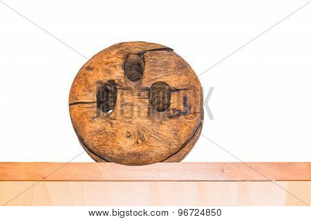 Antique Wooden Pulley