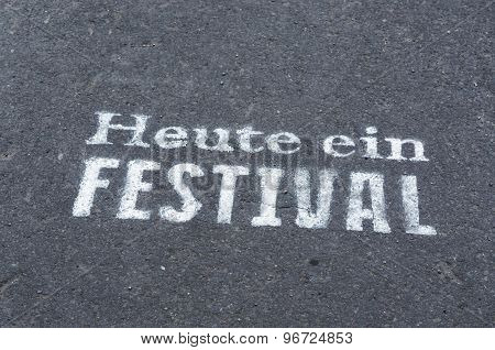 Today A Festival Inscription