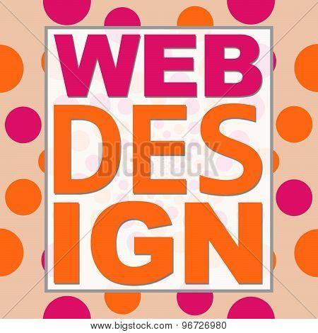 Web Design Peach Pink Circles