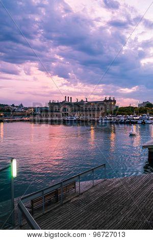 Boats Sunset Barca