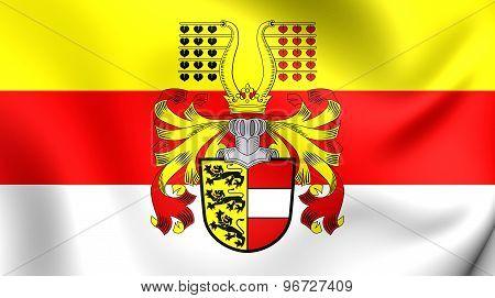 Flag Of Carinthia, Austria.
