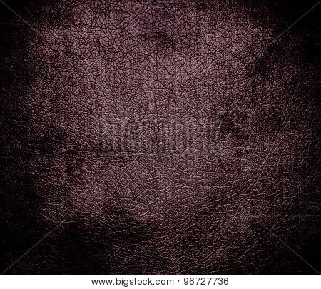 Grunge background of deep tuscan red leather texture