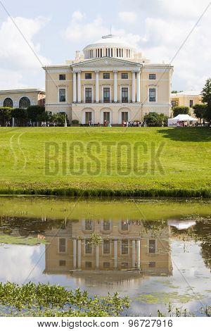 Pavlovsk. Grand Pavlovsk Palace in Pavlovsk park.