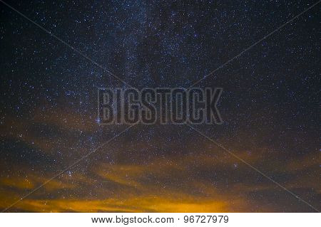 Star Night - night scene milky way background in the galaxy