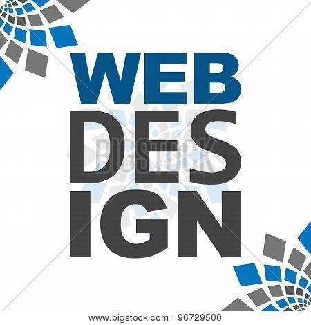 Web Design Blue Grey Square Elements