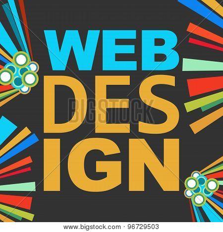 Web Design Dark Colorful Elements