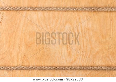 Rope On  Light Wooden Background